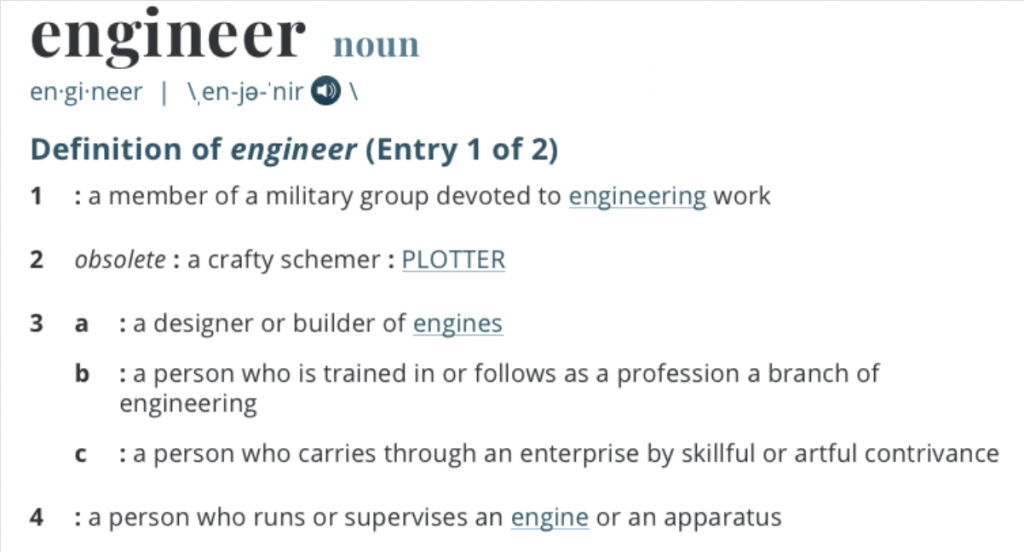 A definition of an engineer