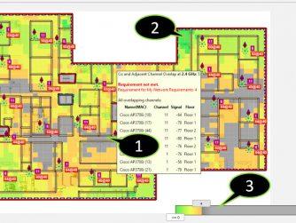 Viewing channel overlap in Ekahau Site Survey