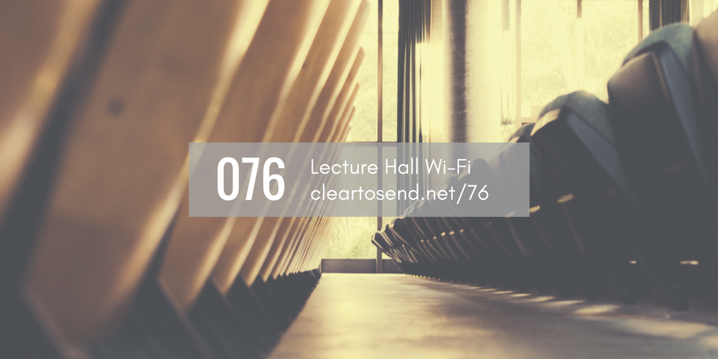 Lecture Hall Wi-Fi