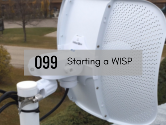 Antenna installation for 45networks WISP